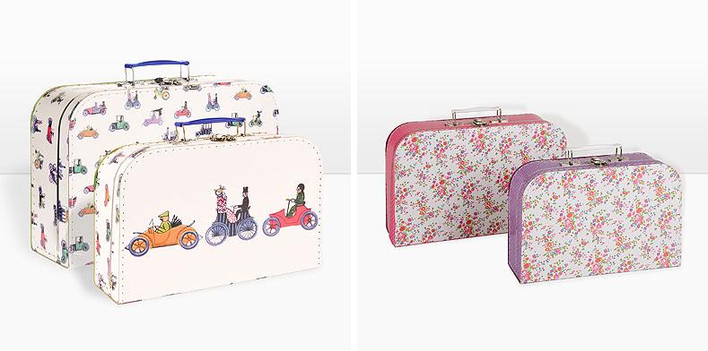 maletas para viajar y decorar con botas de agua. Black Bedroom Furniture Sets. Home Design Ideas