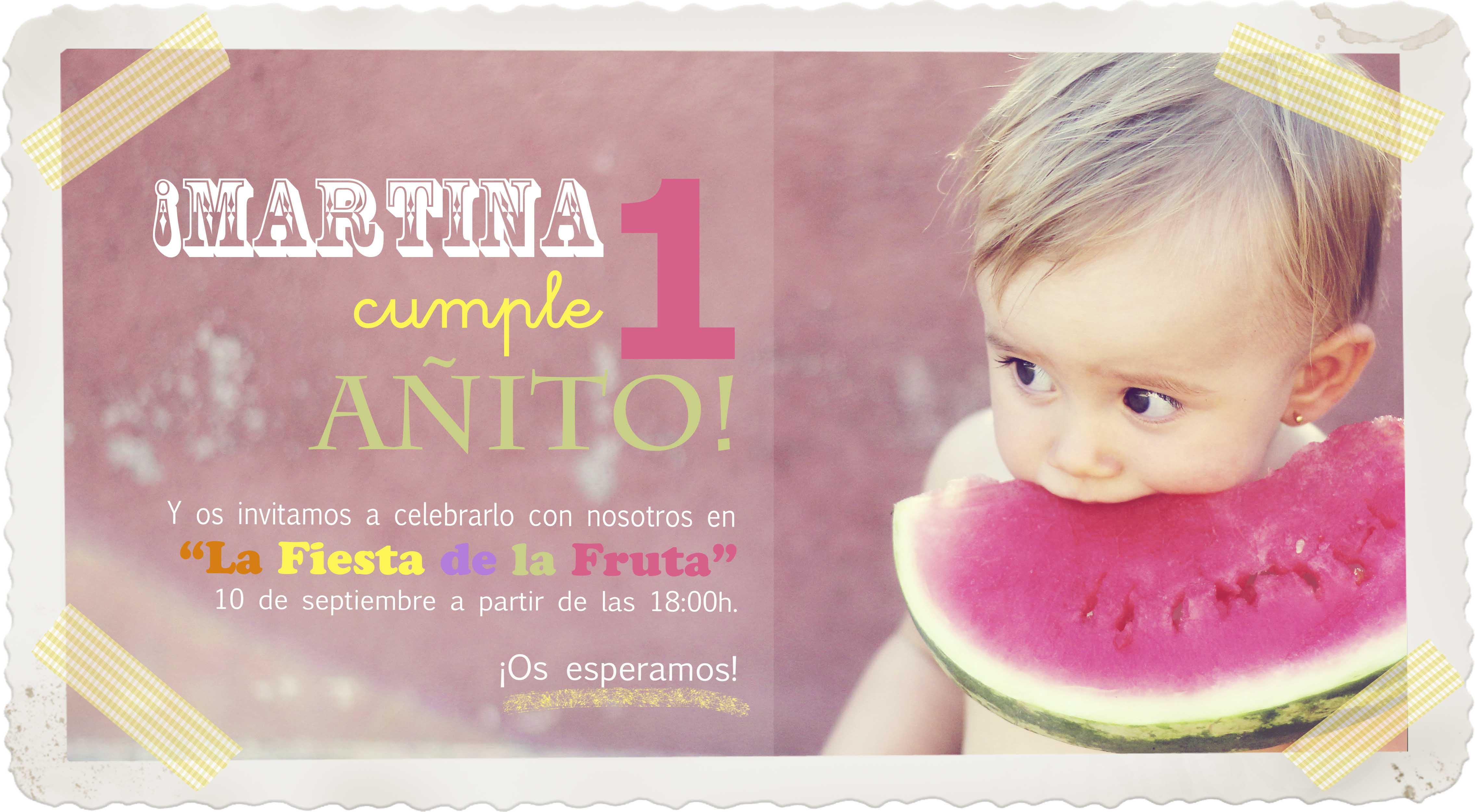1er cumple de Martina Paso 3 La invitacin Con botas de agua