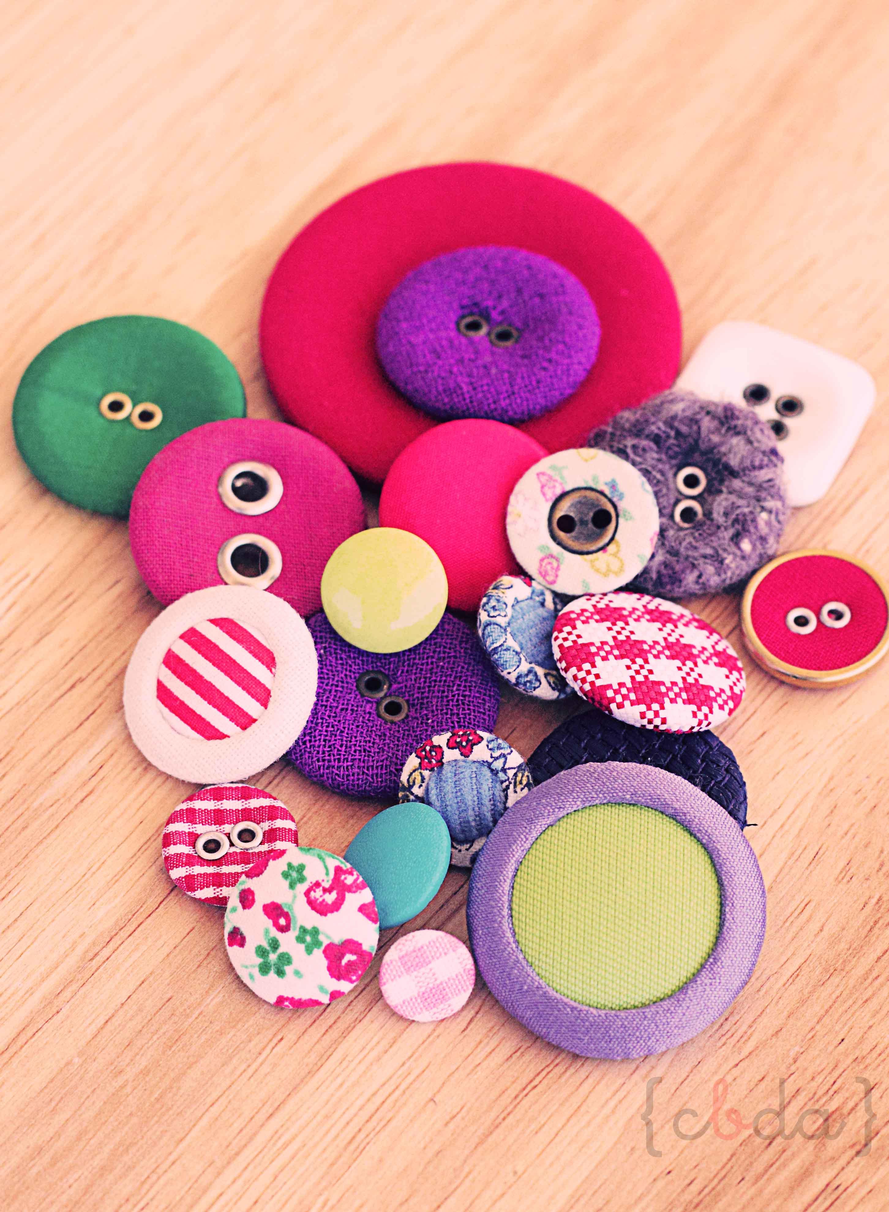 DIY: Cupcake de botones