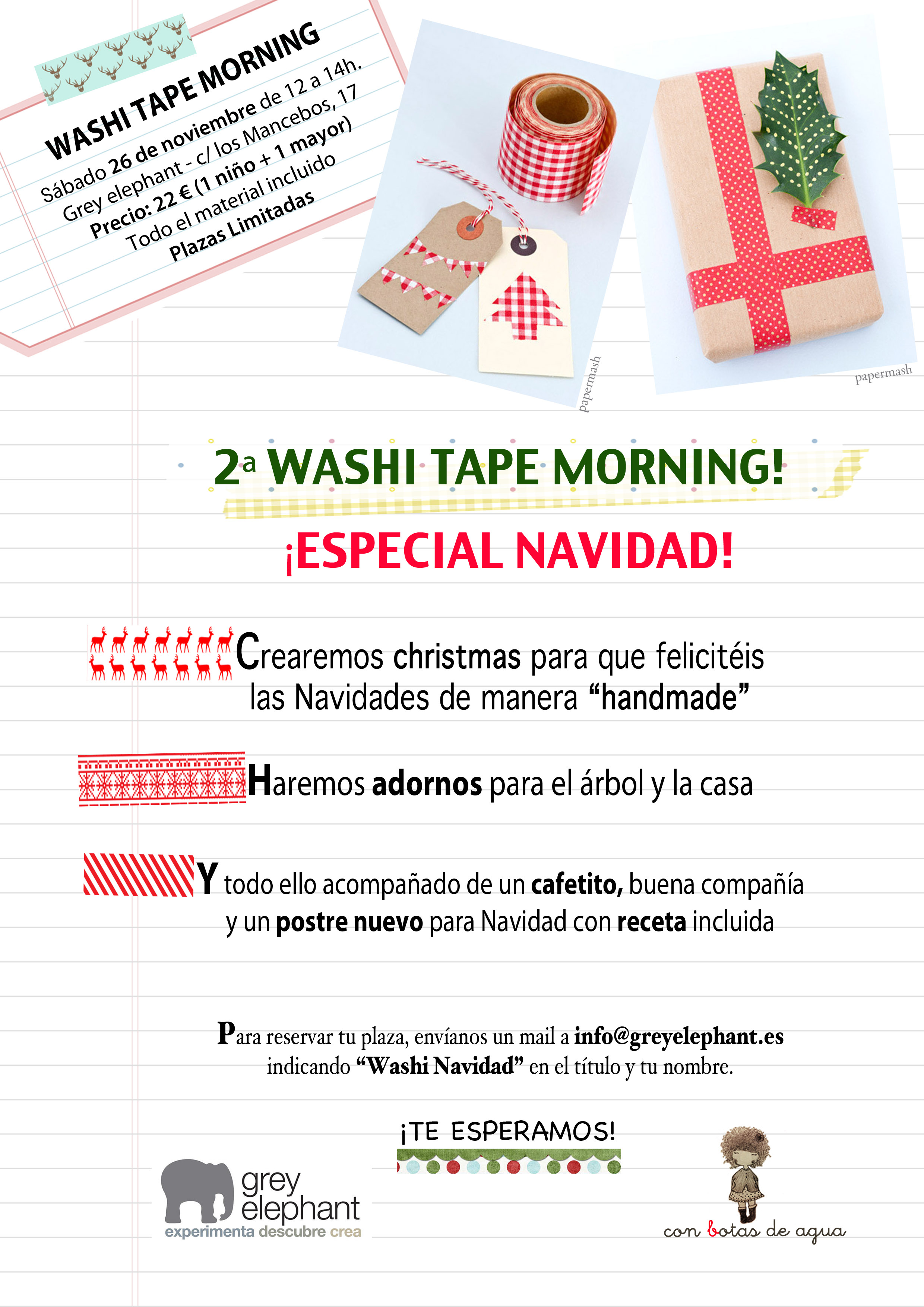"""2ª Washi Tape Morning: """"Especial Navidad"""""""