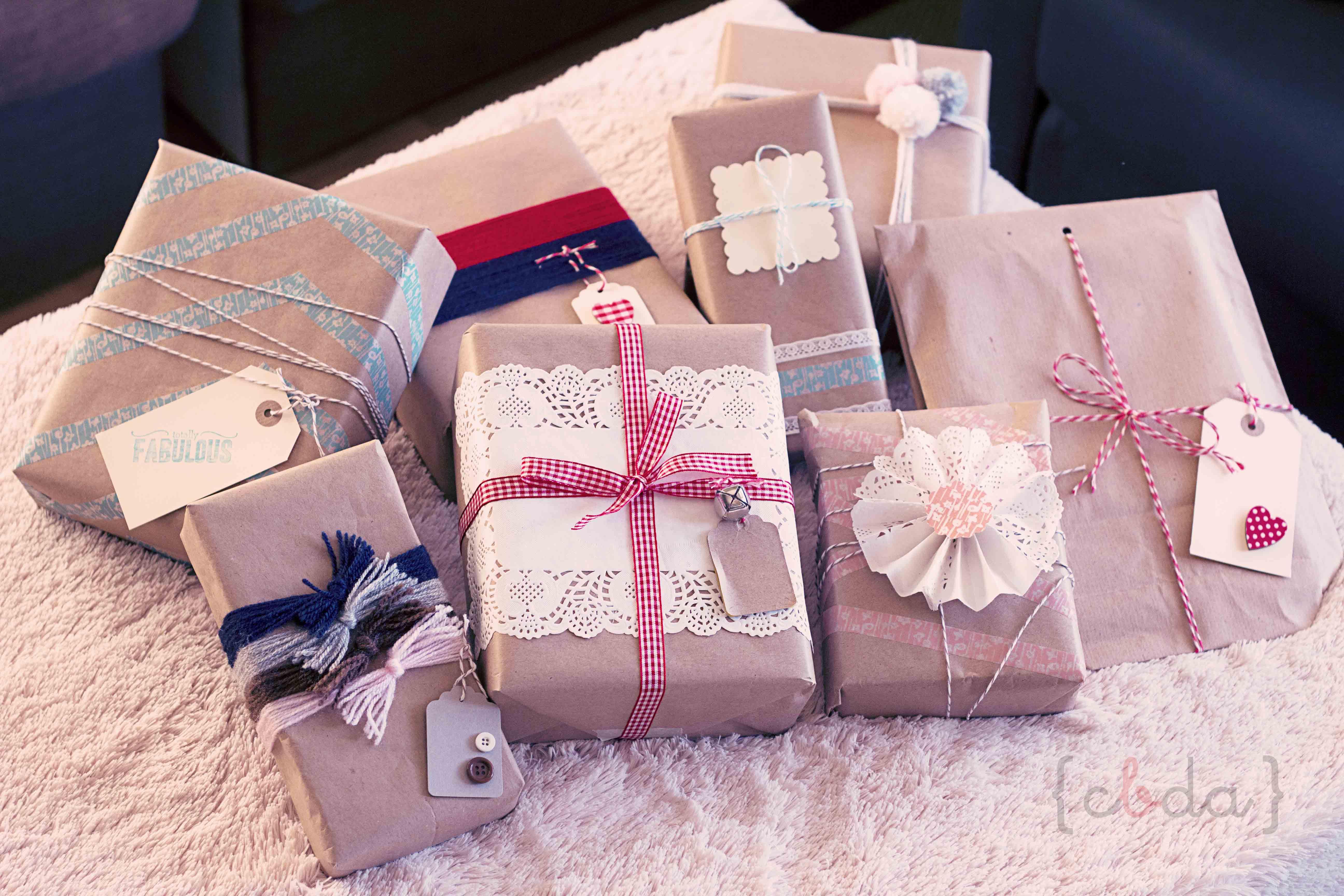 9 maneras de envolver un regalo…
